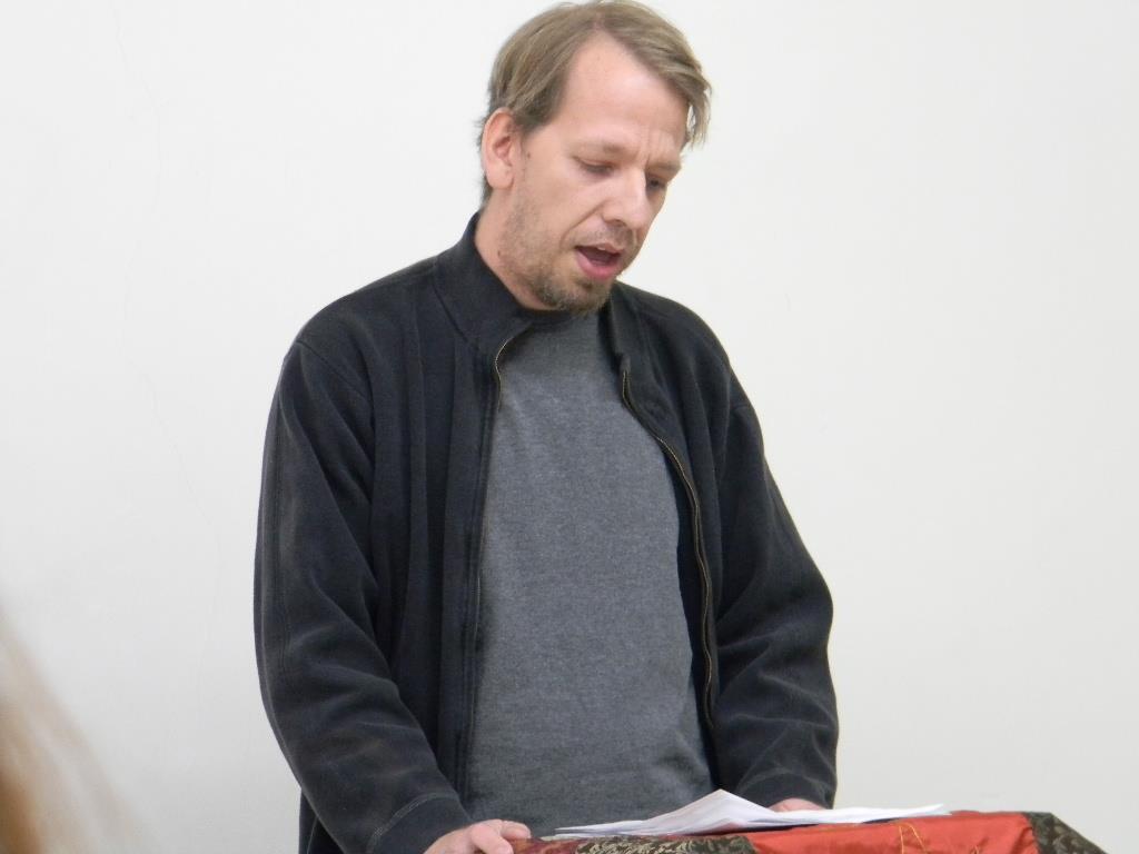 John Most reading poems